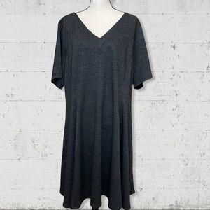Simply Vera Herringbone Short Sleeve Dress SZ 2X